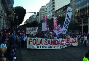 Foto da protesta contra o desmantelamento da sanidade pública (CC)
